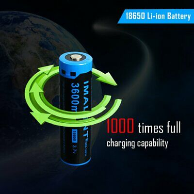 IMALENT 3.7V 18650 Rechargeable Lithium Battery 3600mah Protected Battery &