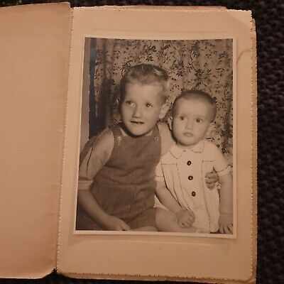 Two Young Children - Portrait - Vintage Photo