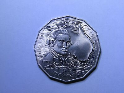 1970 50c Captain Cook Australian Coin - 50 Cent CHOICE UNC FROM ROLL  (HD55.1)
