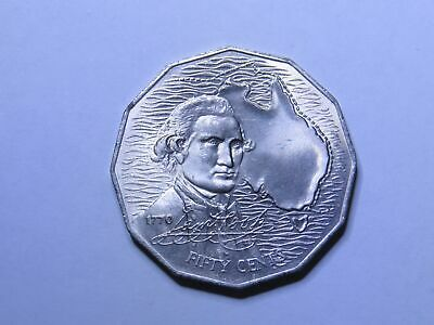 1970 50c Captain Cook Australian Coin - 50 Cent CHOICE UNC FROM ROLL  (HD55.3)