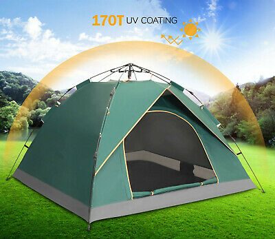 Large 2-3 Person Pop Up Tent, Family Camping Tents Portable Tents Automatic Tent