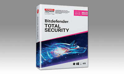 Bitdefender Total Security 2019 1-10 Geräte, Multi-Device 1, 2, 3 Jahre, 3/6M.