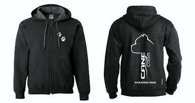 Cane Corso Full Zipped Dog Breed Hoodie, Exclusive Dogeria Design