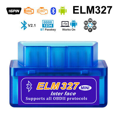 ELM327 V2.1 Mini OBDII OBD2 Car Scanner Android Torque Auto Scan Tool OBD BT