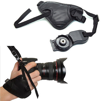 PU Leather DSLR SLR Camera Hand Grip Wrist Strap For Canon 60D 50D 7D 600D 550D