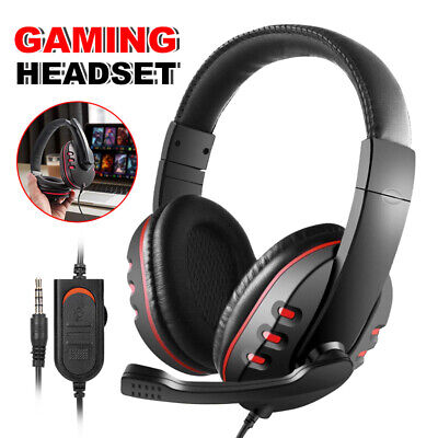 Wired Bluetooth Stereo Gaming Headset Headphone w/Mic USB for Sony PS4 PC AU