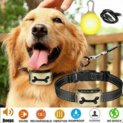 Collier Anti-aboiement de dressage LCD réglable Son Vibration Chien Animal Bark