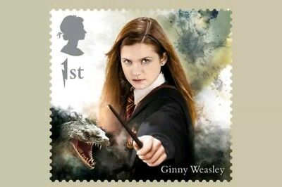 Harry Potter Ginny Weasley Royal Mail Stamp Postcard Brand New