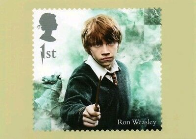 Harry Potter Ron Weasley Royal Mail Stamp Postcard Brand New