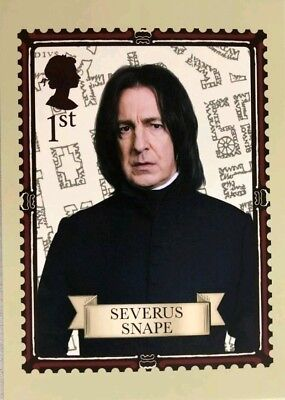 Harry Potter Severus Snape Royal Mail First Day Stamp Postcard Brand New