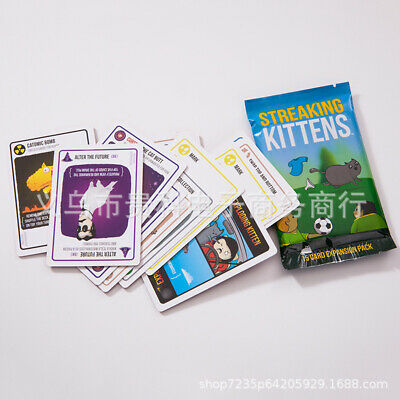 AU Streaking Kittens Second Expansion of Exploding Kittens Multiplayer Card Game