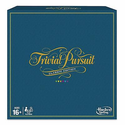 Trivial Pursuit Game Classic Edition Retro Looking Questions Board Game Hasbro