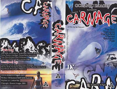 Surfing Video Carnage Vhs Video Pal~ A Rare Find