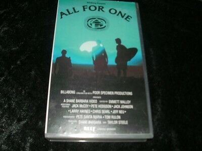 Surfing All For One  Vhs Video Pal~ A Rare Find