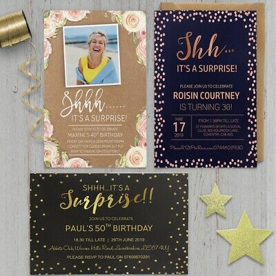 70 Personalised Birthday Party Invites Invitations 18th 21st 30th 40th 50th BD30