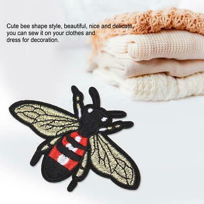 """#4132 Lot 6Pcs 1-5//8/"""" Bee Embroidery Iron On Applique Patch"""