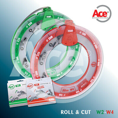 Ace 30m Cut To Length Hose Clip Bzp C/W 30 Heads Jubilee Clamp Band Worm Drive