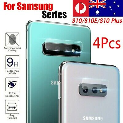 4x Samsung Galaxy S10 S10+ Plus Back Camera Lens Tempered Glass Screen Protector