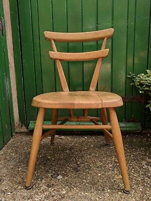 Vintage Ercol Yellow Dot Childrens Chair mid century furniture