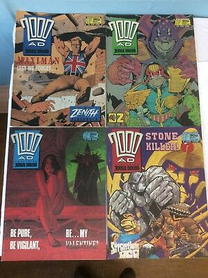 2000AD FEATURING JUDGE DREDD 4 ISSUES JAN 1988 - FEBRUARY 1988 (our ref 3) 4193