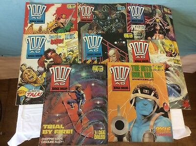 2000AD FEATURING JUDGE DREDD 8 ISSUES FEBRUARY 1988 - APRIL 1988 (ref 3) 4193