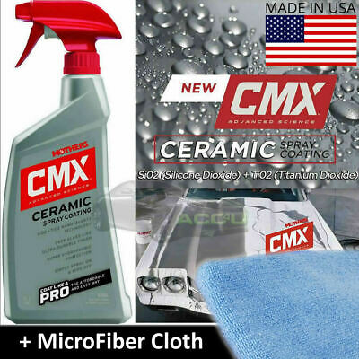 Mothers CMX Car Paint Ceramic Spray On Nano Coat Coating Protection Sealant +Pad