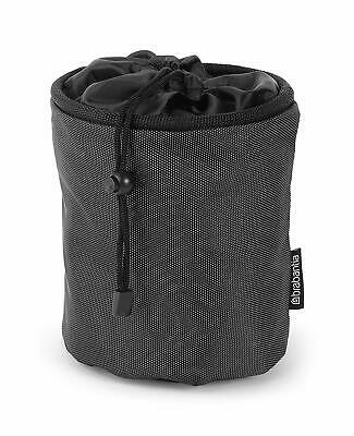 Grey Collapsible Peg Bag Hanging Clip Durable Water Resistant 18x17cm Laundry Wa
