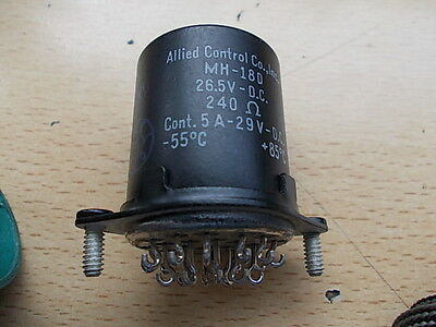 Allied Control Relay MH-18D  26.5 VDC