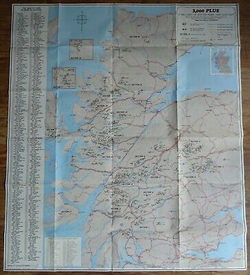 Wallchart Of 3,000 Plus Scottish Peaks. Based On Munro's Tables. G.d. Henderson.