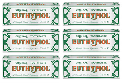 Euthymol Original Toothpaste, 75ml (6 Pack)