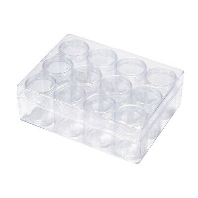 4sets Clear Plastic Bead Storage Containers Accessory Box Transparent Bottles