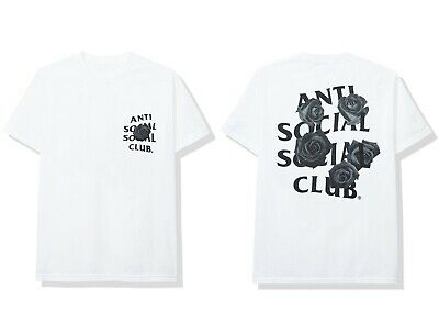 f33478900b4a Anti Social Social Club ASSC logo Blocked Rainbow White Tee Shirt in hand  Bape