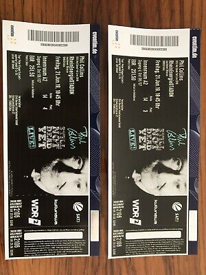2 Tickets Phil Collins Köln golden circle