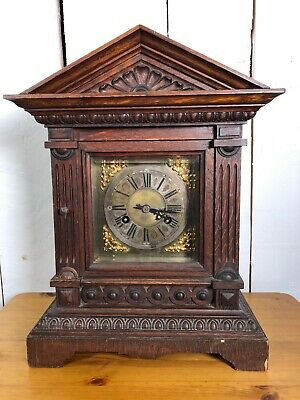 Vintage Wooden Cased Mantle Clock