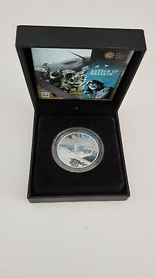 Royal Mint Battle Of Britain 5 Pound Silver Coin. 70th Anniversary