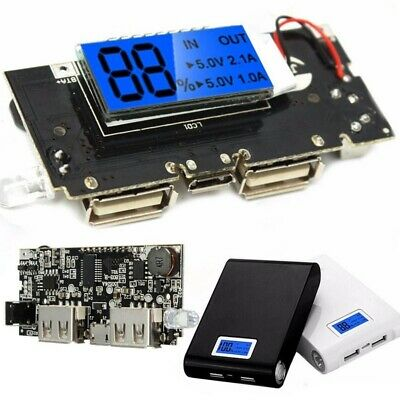Dual USB 5V 1A 2.1A Mobile Power Bank 18650 Battery Charger PCB Module Board RF