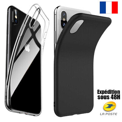 Coque Housse Silicone Iphone 6 5 7 8 X Xr Max Xs Protection Anti Choc Souple