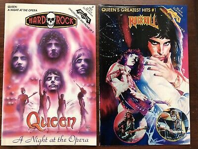 Lot Of 4 Queen / Freddie Mercury Rock N Roll Comics And Hard Rock Comments