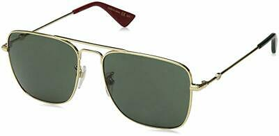 dd2fb282e Gucci GG0108S-003 Gold Metal Frame 55mm Sunglasses (Case Not Included)