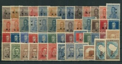 Stamps 62 Different Mint Stamps # 72756 Argentina Argentina Servicio Oficial M.g