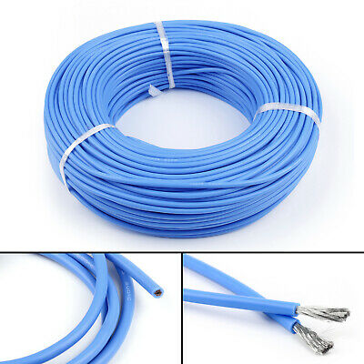 5M Flexible Stranded Silicone Rubber Wire Cable 12AWG Gauge OD 4.5mm Blue CA
