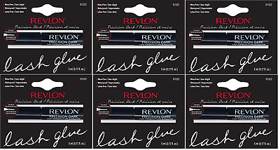 Revlon Precision Dark, Mess Free, Waterproof, Latex Free Lash Glue (6 Pack)