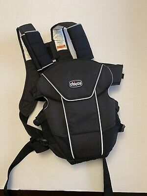 0072f186e2b Chicco UltraSoft Magic Baby Carrier Black Infant 2-Way Positions Adjustable  USED