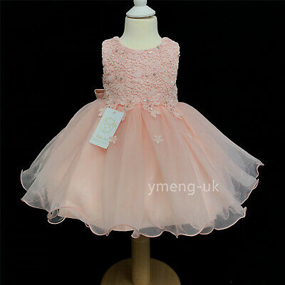 Gorgeous Baby Girl Pink Sparkle Occasion Tutu Dress With Sequins/Romany