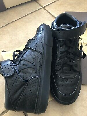 f0e277098355 Louis Vuitton Monogram Leather High Top Sneakers 100% Authentic Size 8 1 2  Mens