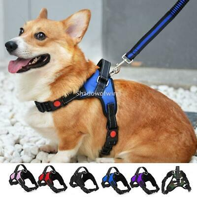 Dog Harness No Pull Adjustable Reflective Nylon Mesh with Handle for Large Dogs