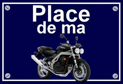 "plaque "" PLACE DE MA TRIUMPH SPEED TRIPLE """