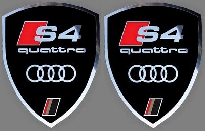 2 autocollants stickers noir chrome AUDI S3    (idéal ailes avant) S 3