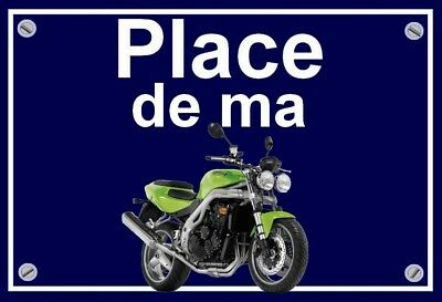 "plaque "" PLACE DE MA TRIUMPH SPEED TRIPLE GRANNY SMITH """