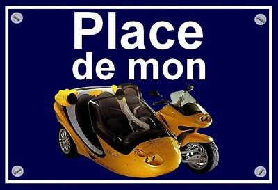 "plaque "" PLACE DE MON ZEUS SIDE BIKE  """